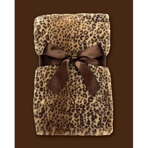 Bearington Bear Luxe Leopard Blanket