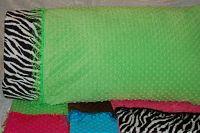 Minky Dot Pillow Case w/ Eyelet Fringe
