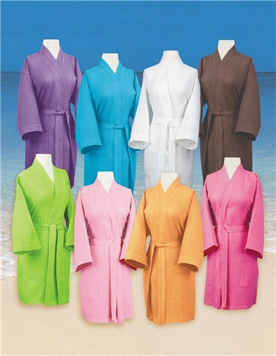 Pendergrass Waffle Weave Kimono Robe
