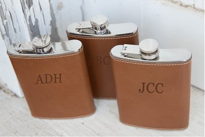 Hip Flask - Italian Leather Wrapped