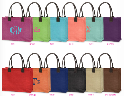 Buckhead Betties Jute Totes
