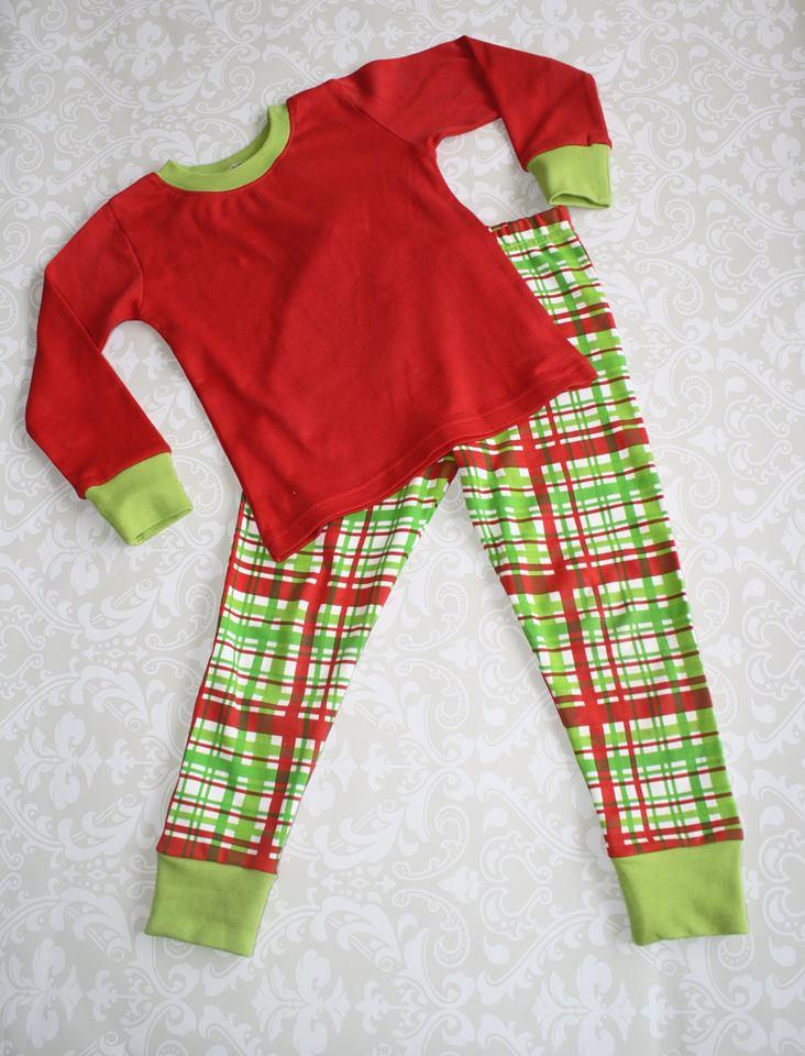 Children's Plaid Christmas Pajamas