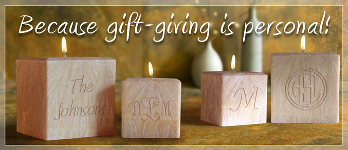 Engraved Monogram Candle