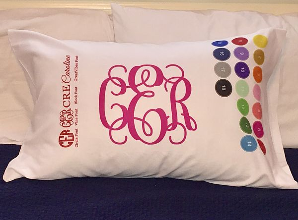 Monogram Pillowcase