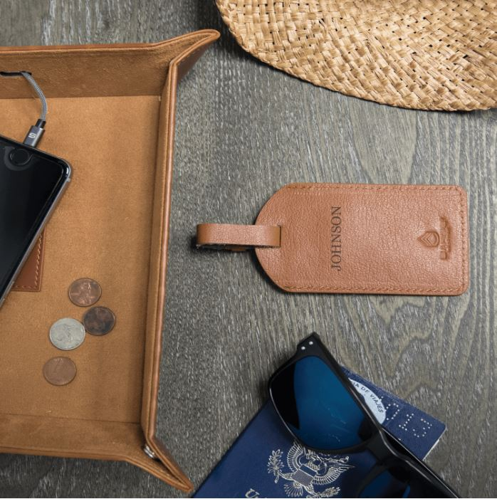 Italian Leather Luggage Tag