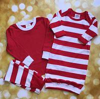Children's Red Striped Christmas Pajamas