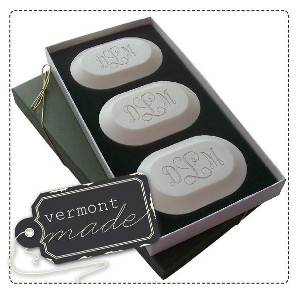 Engraved Monogram Soap