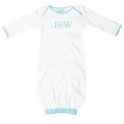 Seersucker Trimmed Infant Gown