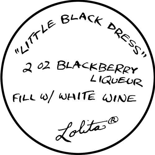 Lolita Little Black Dress Wine Glass