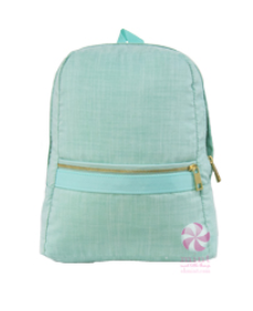 Chambray Medium Backpack by Mint Sweet Little Things
