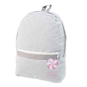 Seersucker Medium Backpacks by Mint Sweet Little Things