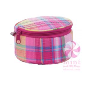 Seersucker Button Bag by Mint Sweet Little Things